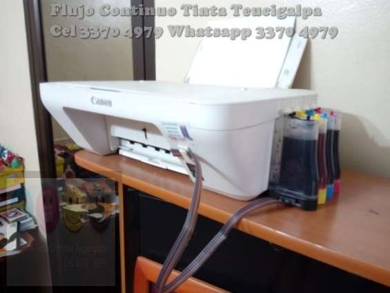 Venta e instalacion de flujo continuo de tinta para impresora canon e impresoras hp , incluye tanques y tinta, instalacion a domicilio rinde 8000  valor 800  lempiras info tel 3370 4979 - 97895719 whatsapp 3370 4979