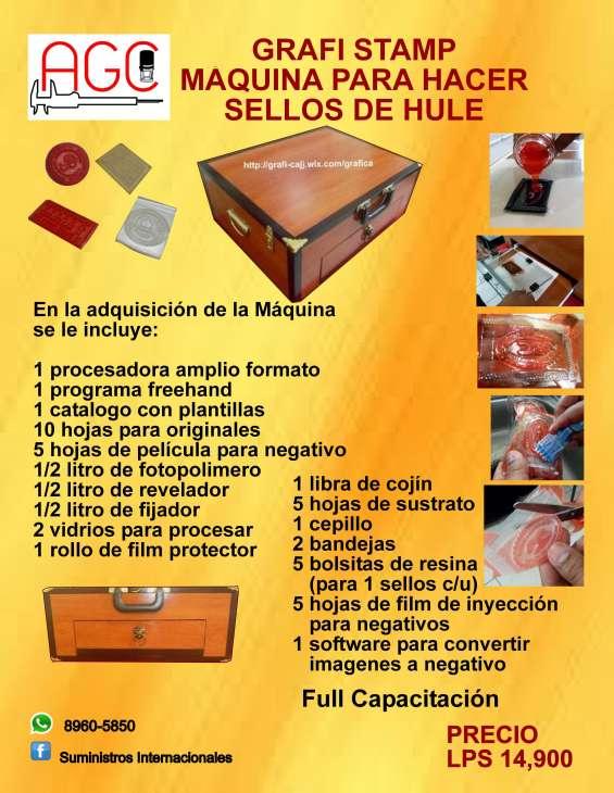Se vende maquina para hacer sellos de hule